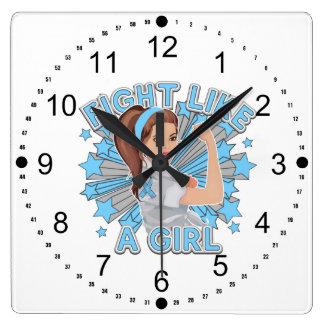 Lucha moderna de Rosie de la enfermedad de Addison Relojes De Pared