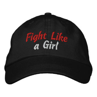 Lucha oral del cáncer como un chica gorra de béisbol