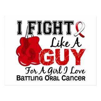 Lucha oral del cáncer como un individuo 15 tarjeta postal