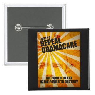 Lucha para abrogar Obamacare Pin Cuadrada 5 Cm