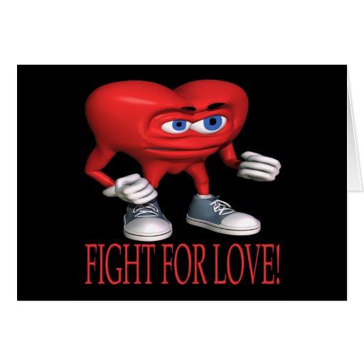 Lucha para el amor felicitación