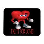 Lucha para el amor iman rectangular