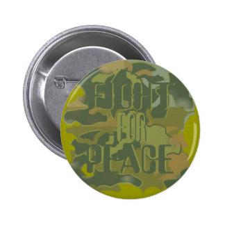 Lucha para el botón de la paz pin