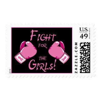 Lucha para el franqueo de los chicas timbre postal