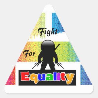 Lucha para el pegatina de la igualdad