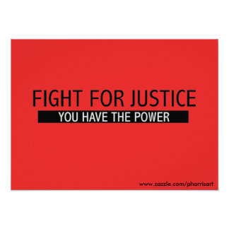 Lucha para el poster de la justicia