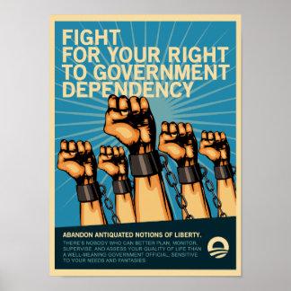 Lucha para la dependencia del gobierno póster
