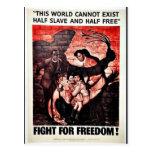 Lucha para la libertad tarjeta postal