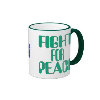 Lucha para la taza de la paz