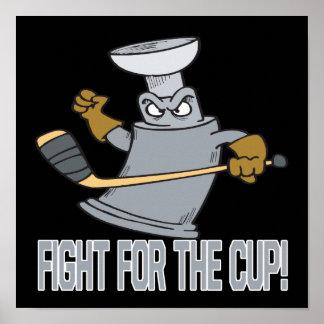Lucha para la taza póster