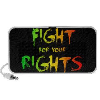 Lucha para las sus derechas altavoces