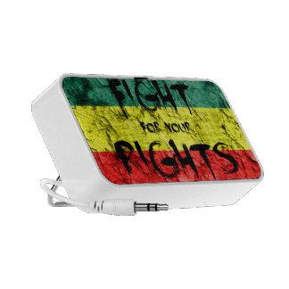 Lucha para las sus derechas laptop altavoces