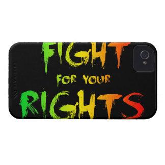 Lucha para las sus derechas Case-Mate iPhone 4 protectores