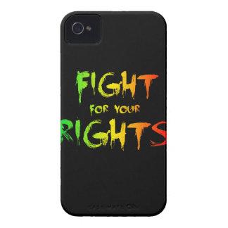 Lucha para las sus derechas funda para iPhone 4