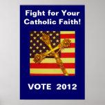 Lucha para su poster católico 2012 del voto de la