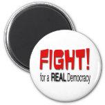 Lucha para una democracia real iman para frigorífico