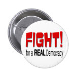 Lucha para una democracia real pin