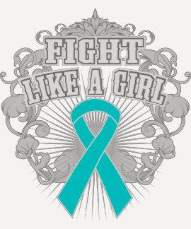 Lucha peritoneal del cáncer como un chica Fleurish Camiseta