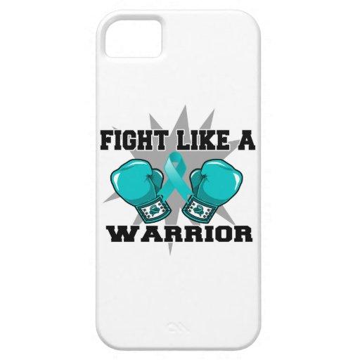 Lucha peritoneal del cáncer como un guerrero iPhone 5 Case-Mate cobertura