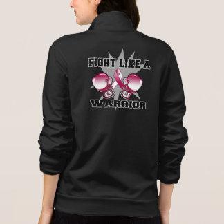 Lucha principal del cáncer del cuello como un chaquetas deportivas