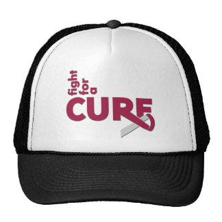 Lucha principal del cáncer del cuello para una cur gorras de camionero