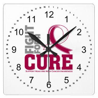 Lucha principal del cáncer del cuello para una reloj cuadrado