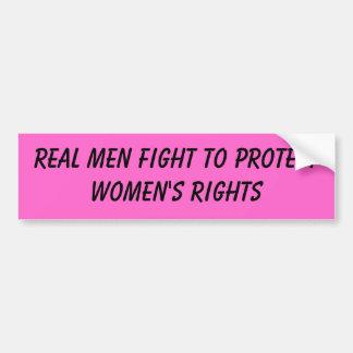 lucha real de los hombres para proteger las derech pegatina para auto