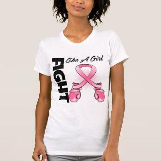 Lucha rosada de la cinta del boxeo como un cáncer camiseta