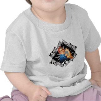 Lucha Rosie del cáncer de piel el remachador Camisetas