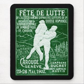 Lucha suiza 1907 alfombrillas de raton