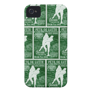Lucha suiza 1907 iPhone 4 Case-Mate protectores