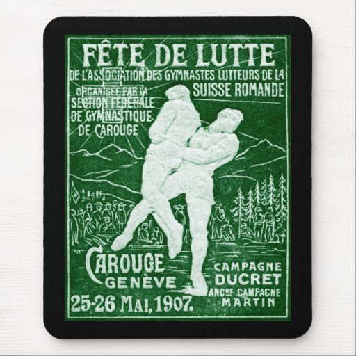 Lucha suiza 1907 tapete de ratón