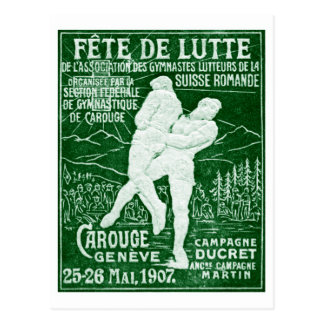 Lucha suiza 1907 tarjetas postales