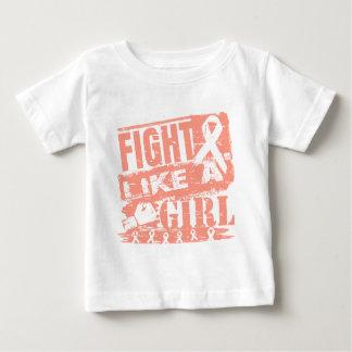 Lucha uterina de la quemadura del cáncer como un tshirts