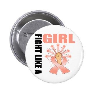 Lucha uterina de la victoria del cáncer como un ch pins