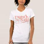 Lucha uterina del cáncer como un chica elegante camisetas