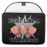 Lucha uterina del cáncer como un guerrero fundas macbook pro
