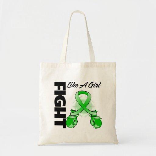 Lucha verde de la cinta como un chica bolsa de mano