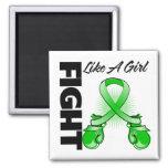 Lucha verde de la cinta como un chica imán