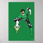 Lucha verde de la linterna póster