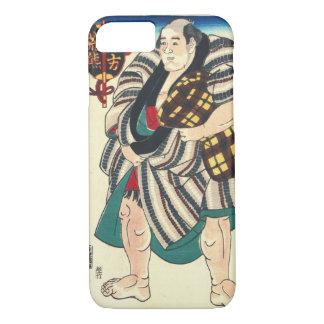 Luchador 1847 del sumo del retrato funda iPhone 7