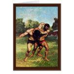 Luchador de Courbet Gustavo Tarjetas