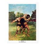 Luchador de Courbet Gustavo Tarjetas Postales