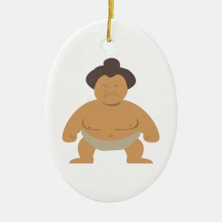 Luchador del sumo adorno de navidad