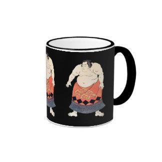 Luchador del sumo del vintage taza de dos colores