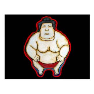 Luchador del sumo tarjetas postales