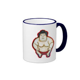 Luchador del sumo taza de dos colores