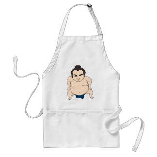 Luchador japonés del sumo del dibujo animado delantal