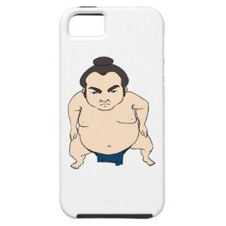 Luchador japonés del sumo del dibujo animado iPhone 5 carcasas