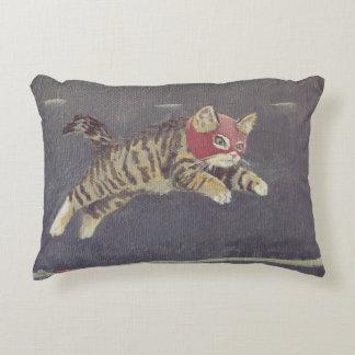 Luchador Kitty Decorative Pillow